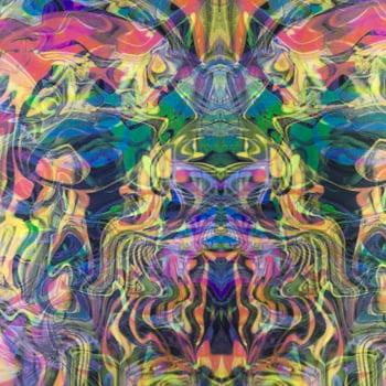 Tecido Panamá Dublado Tie Dye Abstrato