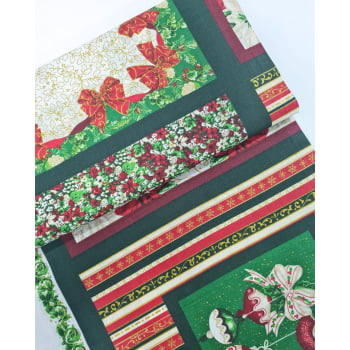 Tecido Painel Natal Verde (0,60x1,50)