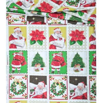 Tecido Painel Papai Noel Roupa Vermelha (0,60x1,50)