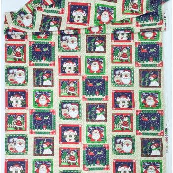 Tecido Quadradinhos de Natal