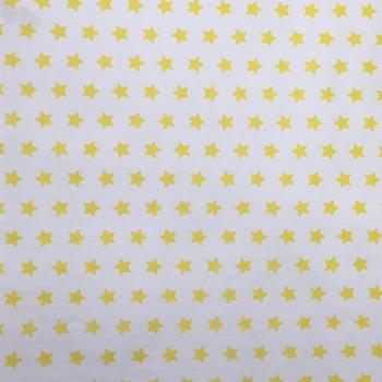 PVC Estrelas Amarela Fd Branco