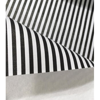 PVC Listras Branco e Preto