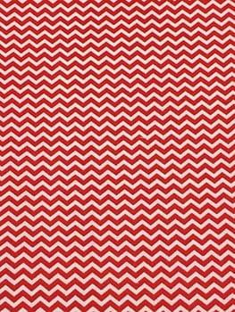 Tecido Mini Chevron Vermelho
