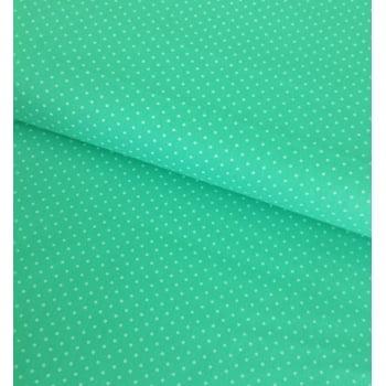 Tecido Poá P Branco Fd Verde Tiffany Cal.