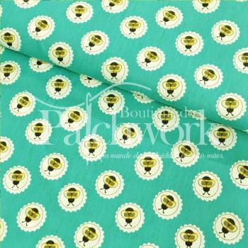 Tecido Bee Lace Jade
