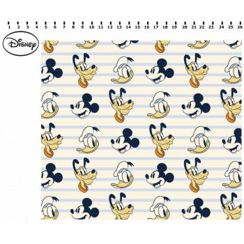 Tecido Mickey, Donald e Pluto