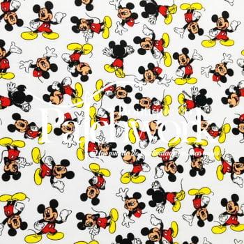 Tecido Mickey Mouse Fd Branco