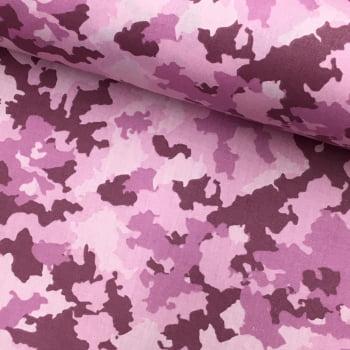 Tecido Camuflado Rosa