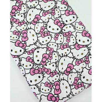 Tecido Hello Kitty Heads Fd Branco