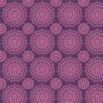 Tecido Mandalinhas Roxa (Coleção Namastê)