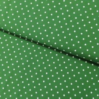 Tecido Estrelas Fd Verde Arruda