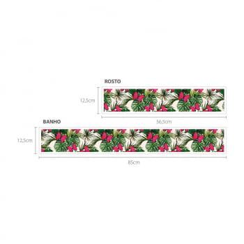 Faixa Digital Toalha de Banho + Rosto Ref 6060 Borboleta