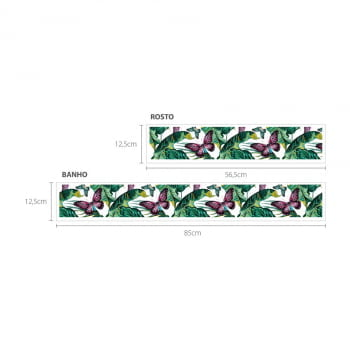 Faixa Digital Toalha de Banho + Rosto Ref 6061 Borboleta