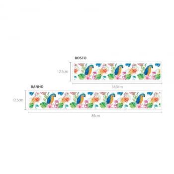 Faixa Digital Toalha de Banho + Rosto Ref 6070 Pássaros