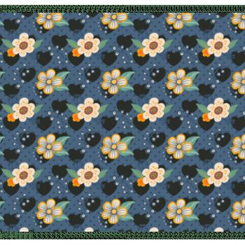 Tecido Florzinhas e Corações Coleção Contemporâneo