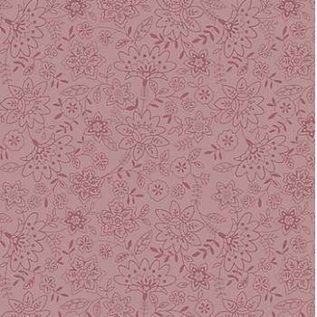 Tecido Básico Jardim Delicado Rosa