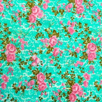 Tecido Floral Arabesco Tiffany
