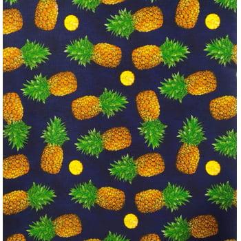 Tecido Abacaxi Pineapple Marinho