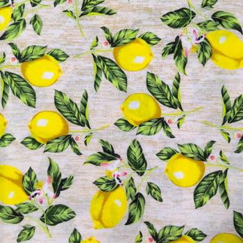 Tecido Limão Lemon Bege
