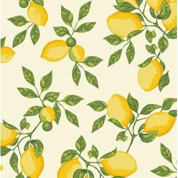Tecido Limão Siciliano Fd Creme
