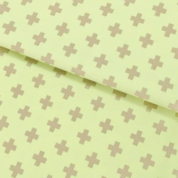 Tecido Geometrico Plus Cinza Fd Verde