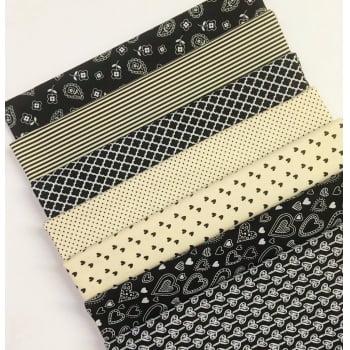 Kit de Tecidos Basics e Colors Preto K023