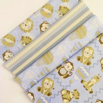 Kit de Tecidos Bichinhos Baby Azul K004