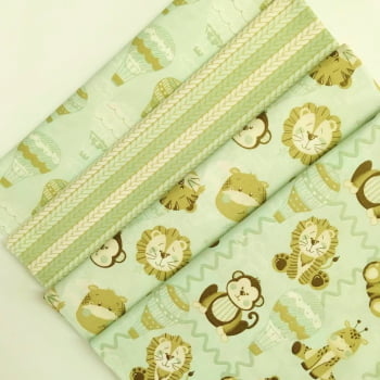 Kit de Tecidos Bichinhos Baby Menta K005