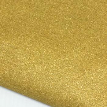 Tecido Metalizado Dourado