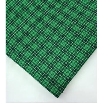 Tecido Xadrez Verde Natalino Lurex