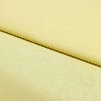 Tecido Micro Poá Branco Fd Amarelo Claro