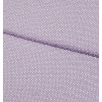 Tecido Micro Poá Branco Fd Lilas Suave