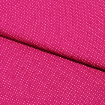 Tecido Micro Poá Branco Fd Pink