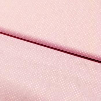 Tecido Micro Poá Branco Fd Rosa Suave
