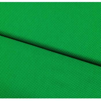 Tecido Micro Poá Branco Fd Verde Folha