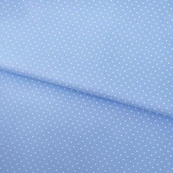 Tecido Poá P Branco Fd Azul Bebe Seco