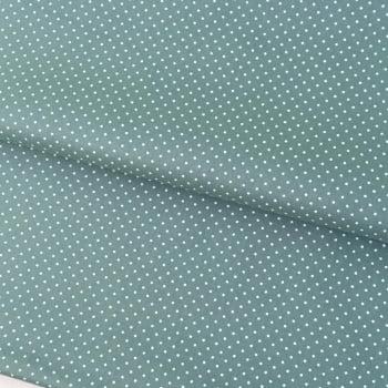Tecido Poá P Branco Fd Verde Seco