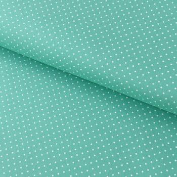 Tecido Poá P Branco Fd Verde Tiffany