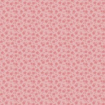 Tecido Básico Floral Rosa Era Uma Vez