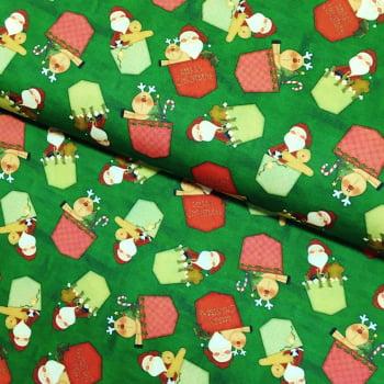 Tecido Digital Bolsinhos Papai Noel