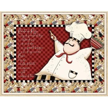 Tecido Digital Jogo Americano Chefs Receita Pizza