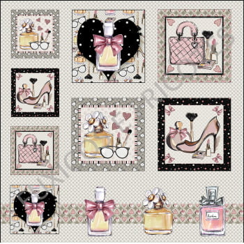 Tecido Digital Painel Perfumes