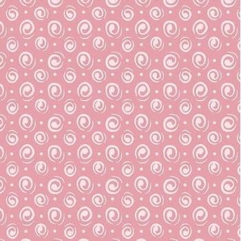 Tecido Espiral Rosa c/ Poá