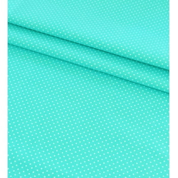 Tecido Poá P Branco Fd Azul Tiffany