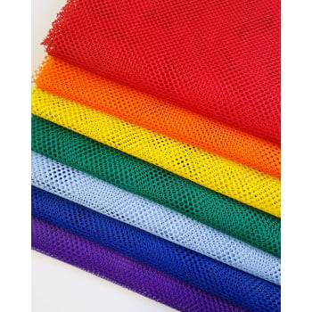 Kit de Tela Volei Arco Iris - 7 cores - Cortes de 50x1,50